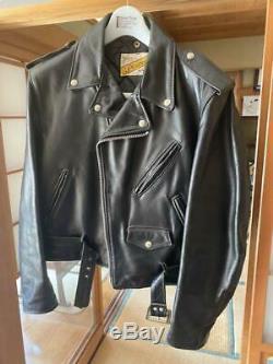 Schott Double Rider Jacket Outer Blouson Men's Size 42 Leather Biker Bike USED