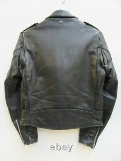 Schott Jacket Size 38 perfecto steerhide double leather motorcycle 618