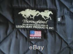 Schott Legendary Thoroghbred Horsehide Leather Cafe Racer Motorcycle Jacket 42