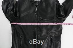 Schott Mens Perfecto 530 Cafe Racer Black Leather Motorcycle Jacket Medium $890
