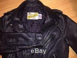 Schott NYC 613 One Star Perfecto Leather Jacket, size US 36-38 EU 46-48