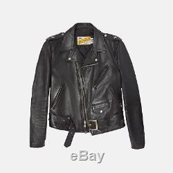 Schott NYC 613 One Star Perfecto Leather Motorcycle Jacket Size 38