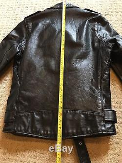 Schott NYC 626 Rare One Star Black Leather Motorcycle Jacket Size Small Perfecto