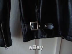 Schott NYC 641HH Classic Racer Black Motorcycle Leather Jacket Horsehide $795
