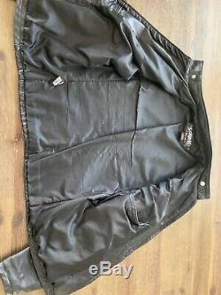 Schott NYC 654VN Vintaged Men's Cafe Racer Cowhide Black Leather Jacket Medium M