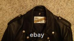 Schott NYC Perfecto 118 Leather Motorcycle Jacket 38 M