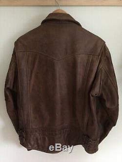 Schott NYC Perfecto #585 Vintage Motorcycle Jacket (M) Antique Brown