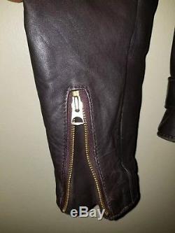Schott Nyc USA Size 40 Perfecto 618 Leather Motocycle Biker Jacket Dark Brown
