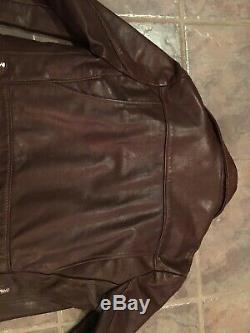 Schott Nyc Vintage Brown Women's Riders Motorcycle Leather Jacket 14 Rare