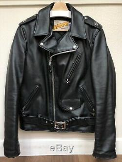 Schott One Star Perfecto Leather Motorcycle Jacket Style 613S, Slim Fit