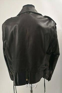 Schott Perfecto 115 Vintage Brown Motorcycle Leather Biker jacket VTG Size 48