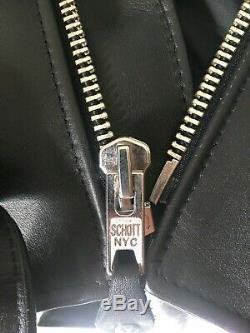 Schott Perfecto 613s (Slim) Leather Jacket Size 36