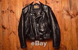 Schott Perfecto 618 Vintage Old Riders Motorcycle Biker Leather Jacket Size Xl44