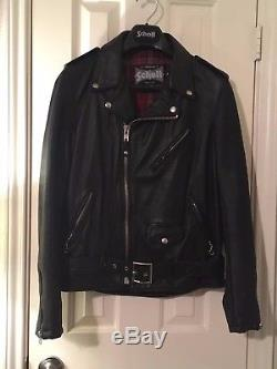 Schott Perfecto 626VN Black Cowhide Leather Motorcycle Jacket Sz Medium MINT