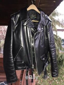 Schott Perfecto Horsehide Leather Jacket 613SH Size 44