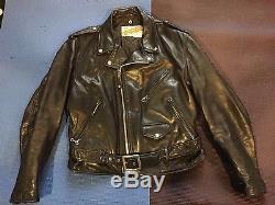 Schott Perfecto Leather Motorcyle Jacket 42 Biker goth Horror Punk Rockabilly