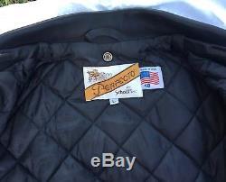 Schott Perfecto Men's Black Leather Motorcycle Jacket (size 48)