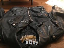 Schott Perfecto Nyc Men's Leather Motorcycle Biker Jacket Size 38 Talon Zipper
