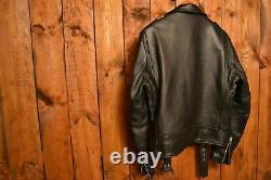 Schott Perfecto Nyc One Star Black Vintage Riders Motorcycle Leather Jacket L-44
