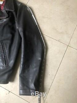 Schott Perfecto X Supreme Brown XL Leather Motorcycle Jacket