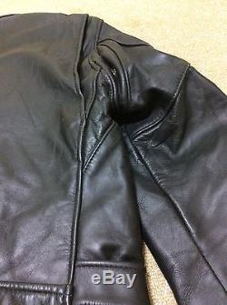 Schott Perfecto leather motorcycle jacket 618 in well used condition size38