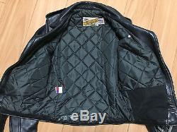 Schott Vintage Perfecto Black Leather Motorcycle Jacket Star 618 Size 34/XS