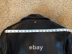 Schott X 3Sixteen Arabica Horween Brown Leather Perfecto Jacket LARGE