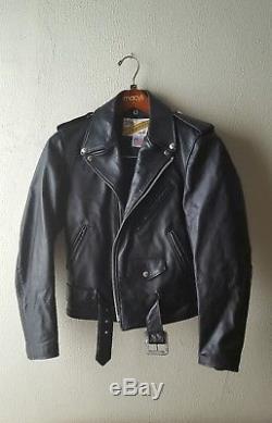 Schott leather jacket 118 34 perfecto biker motorcycle