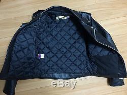 Schott perfecto 618 38 steerhide leather double motorcycle jacket racer 641
