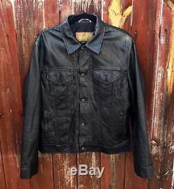 Schott perfecto leather Trucker jacket