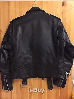 Schott perfecto leather motorcycle jacket 613 XX One Star Size 38 not 618
