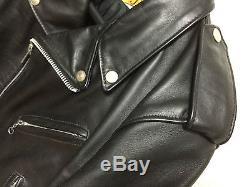 Schott perfecto steerhide leather double motorcycle jacket 618 40 racer 641