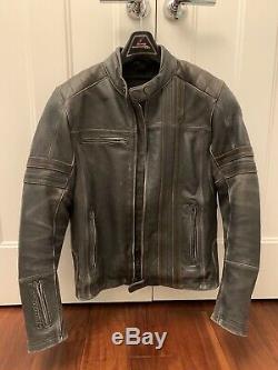 Scorpion 1909 Leather Motorcycle Jacket Used Size MD Black