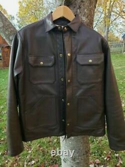 Ship John x Langlitz, Brown Goat Leather, Wills Jacket, MINT! Medium. SO RARE