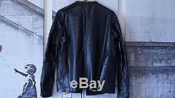 Stone Island Shadow Project Leather Rider Jacket Sz L Acronym/undercover/supreme
