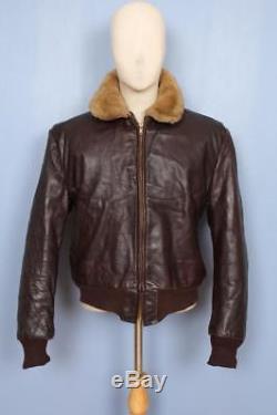 Stunning Vtg 40s Irvin Foster HORSEHIDE Aviator Flight Motorcycle Leather Jacket