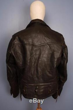 Stunning Vtg 50s CAL-LEATHER California CHP HORSEHIDE Police Motorcycle Jacket