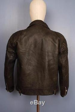 Stunning Vtg 60s HIGHWAYMAN Leather Motorcycle Sports Jacket Small