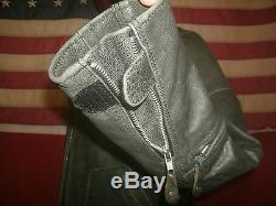 Superb Cafe Racer Motorcycle Cruiser Bucklebacks Heavy Leather Jacket. Size XL