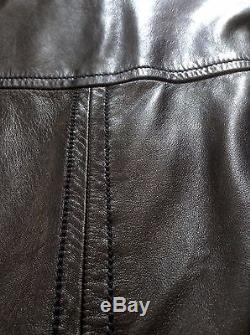 Superb Gucci Black Leather Moto Jacket EU 52/US 42 RRP=$3750
