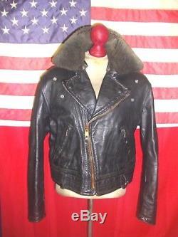 Superb Vintage CHP Motorcycle Brando Cruiser Horsehide Leather Jacket. 40-42