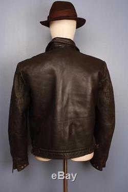 Superb Vtg 40s WWII GERMAN Hartmann Flight Motorcycle Leather Jacket Luftwaffe