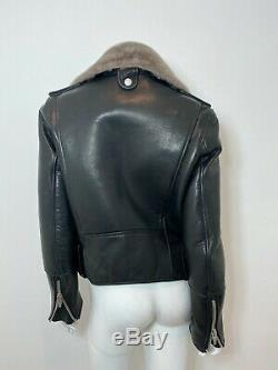 THE ARRIVALS Ruf Bonded Moto Leather Jacket in Black Size XS $685