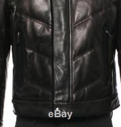 TOM FORD Motorcycle Bomber Black Leather / Suede Jacket Coat US40 / IT50 $8995