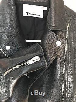 T alexander wang Leather Cropped Biker Jacket Size 4