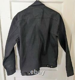 Taylor Stitch Long Haul Trucker Jacket in Black Selvedge Denim Sz M / 40