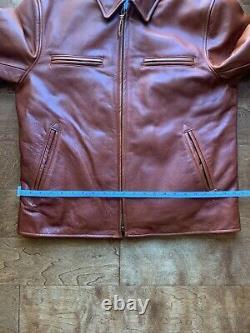 Taylor Stitch Moto Jacket Whiskey Steerhide XL