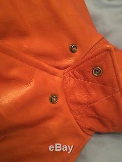 Taylor Stitch Moto Leather Jacket in Whiskey, size Large