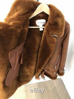 The Arrivals Moya III Jacket Terra/Tan Shearling Sz S
