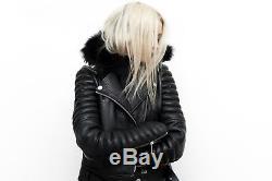 The Arrivals NYC The Rainier Leather Moto Jacket SZ L Lux Blogger's Fave Balmain